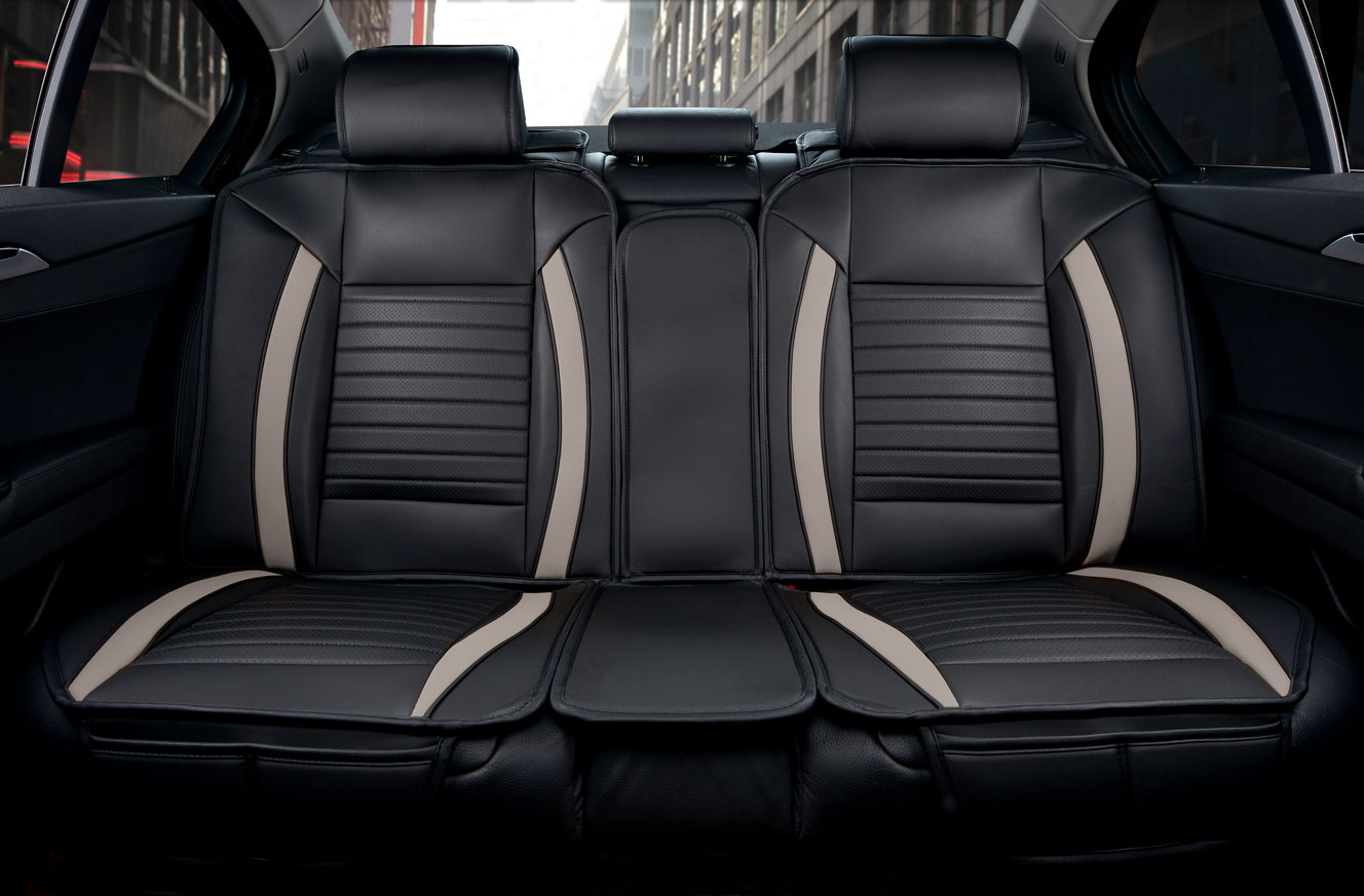 Luxury Series Grey Rear Seat Cover