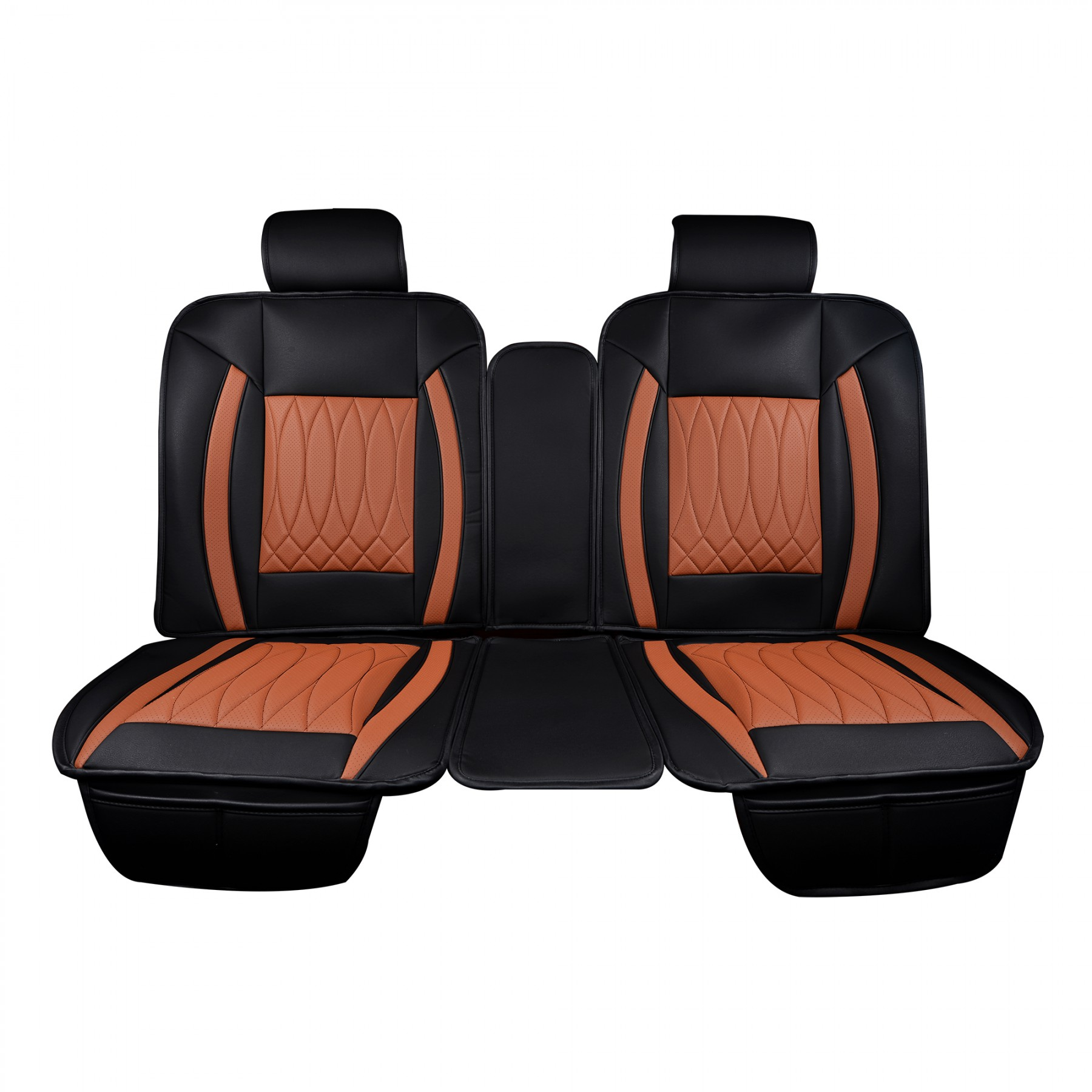 Luxury Series Saddle Brown Car Rear Seat Covers