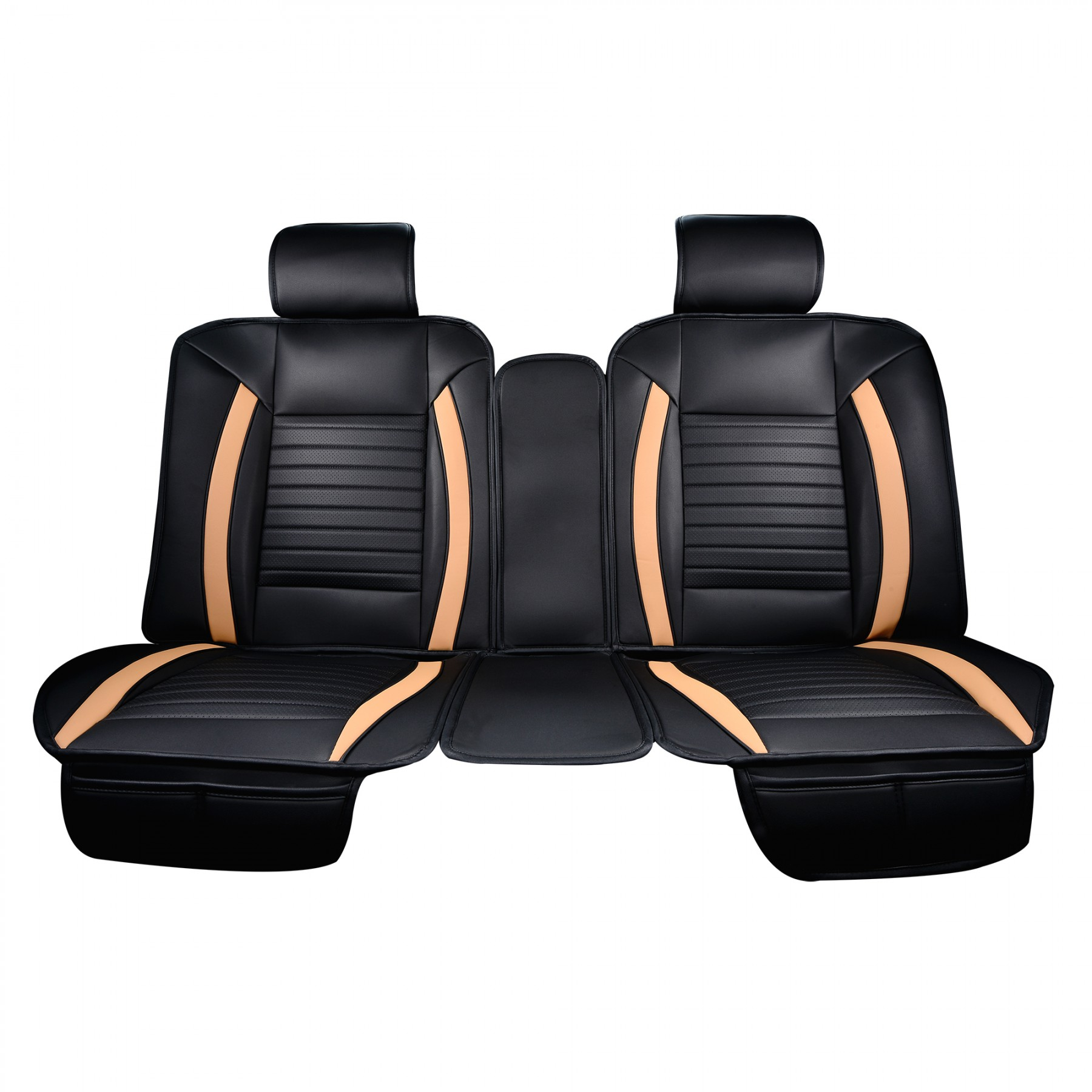 Luxury Series Tan Car Rear Seat Cover