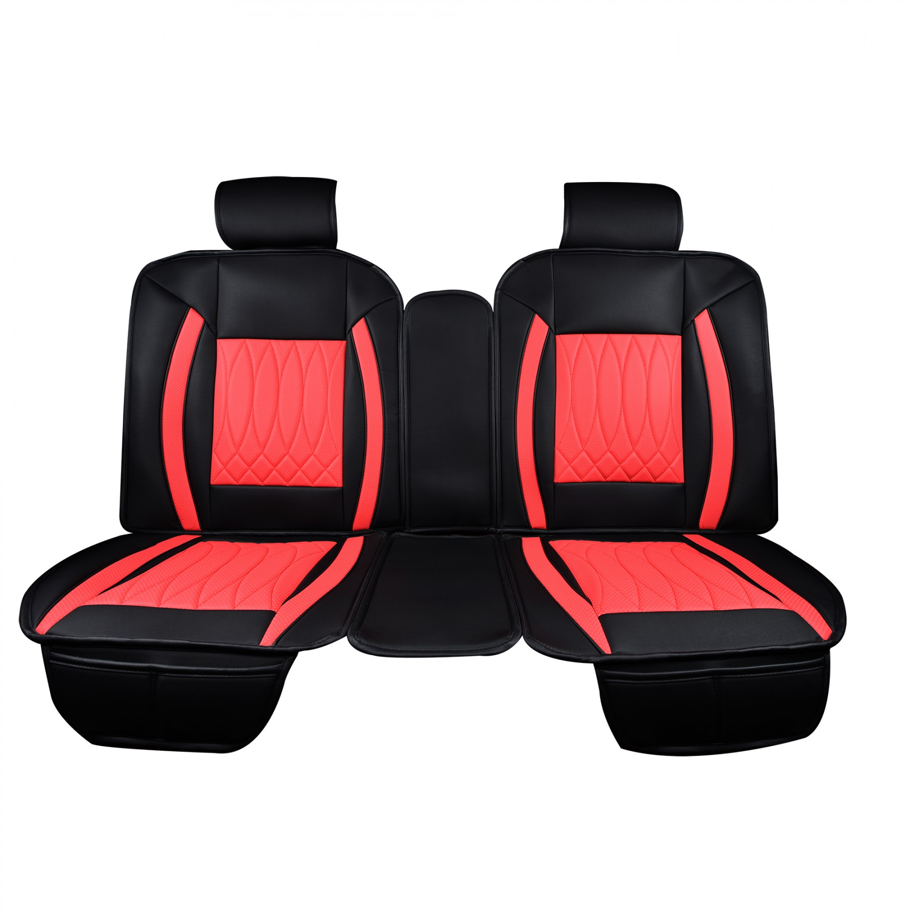 Luxury Series Red Car Rear Seat Cover