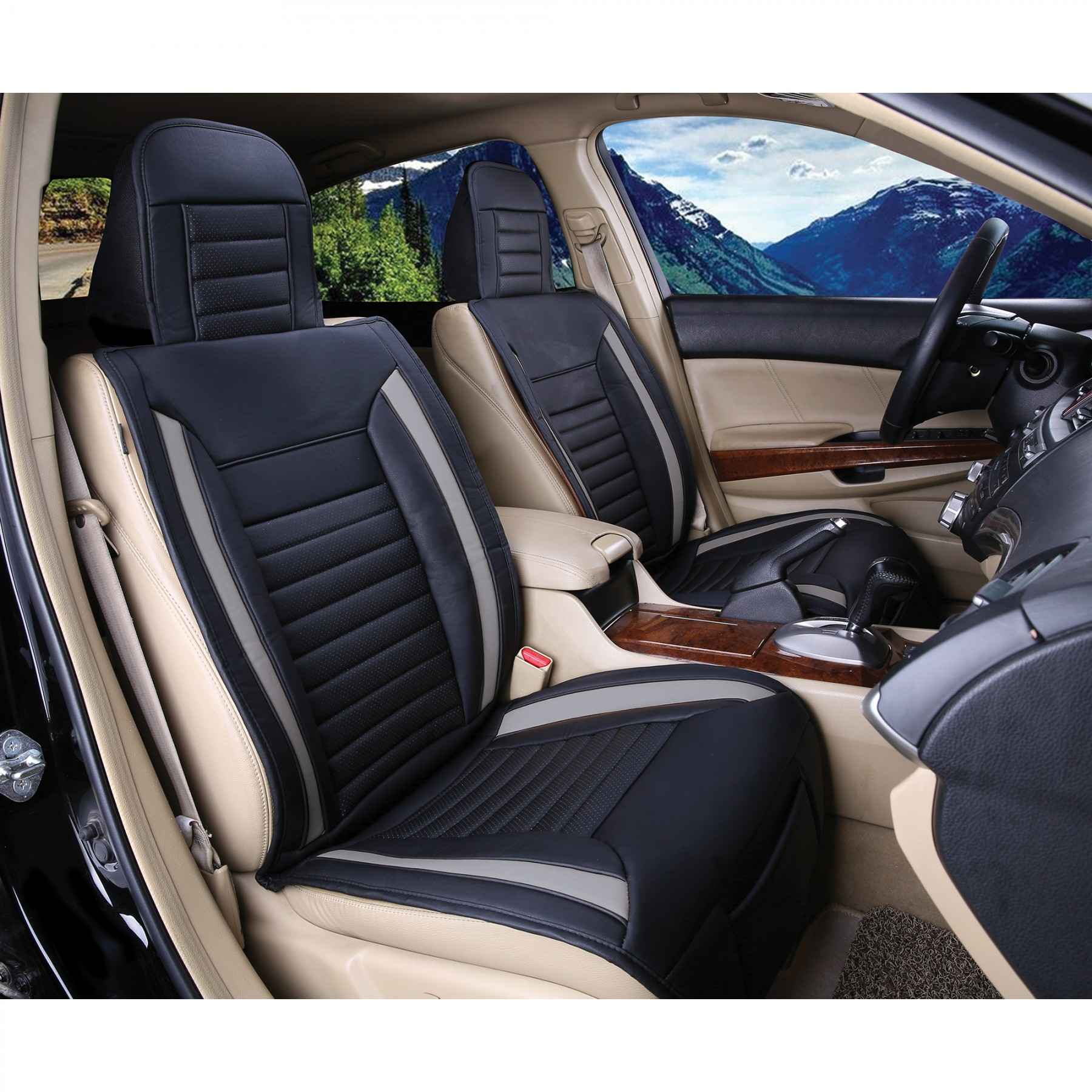 Luxury series grey car front seat cover auto seat covers - Car seat covers for tan interior ...