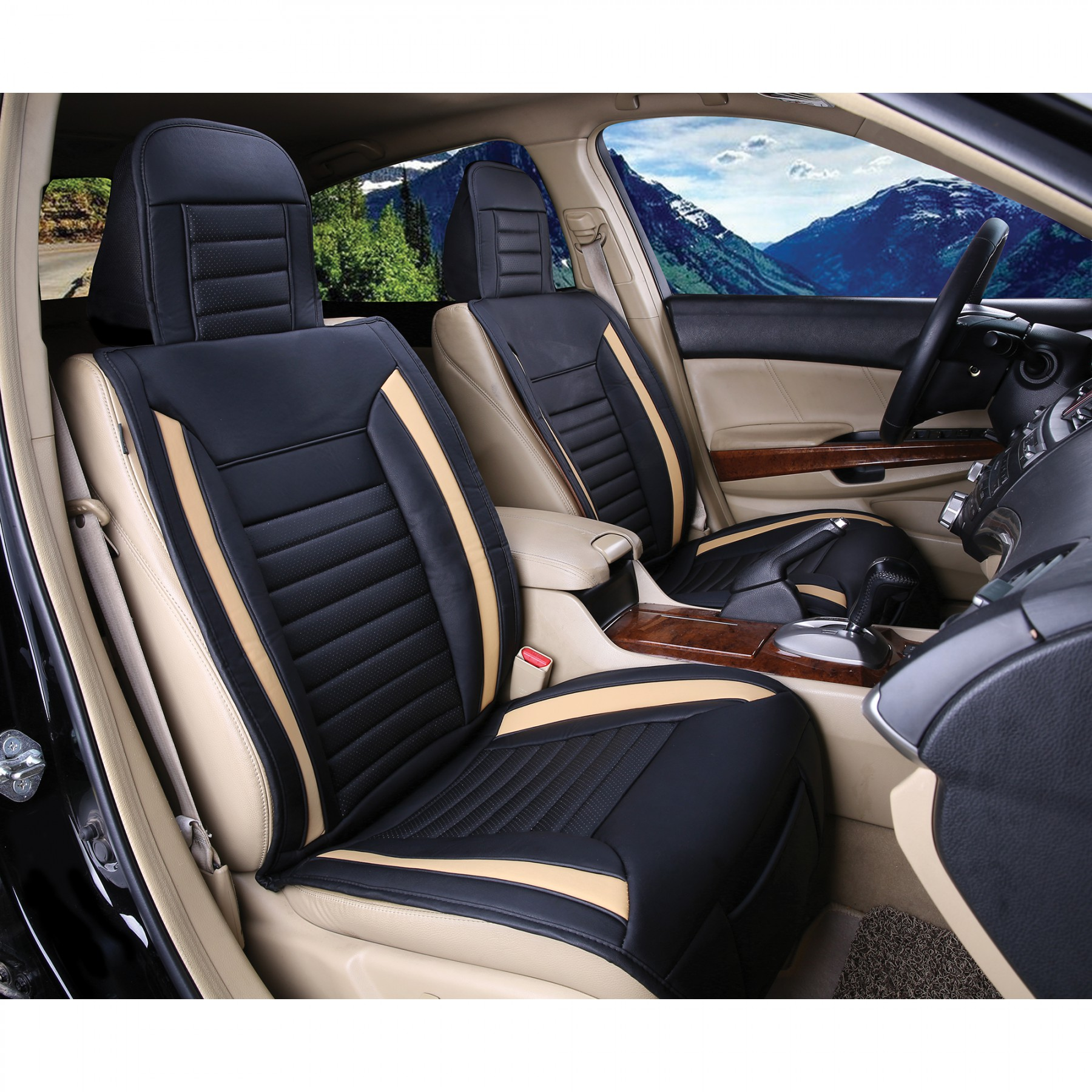 Astounding Luxury Series Tan Car Front Seat Cover Auto Seat Covers Pabps2019 Chair Design Images Pabps2019Com