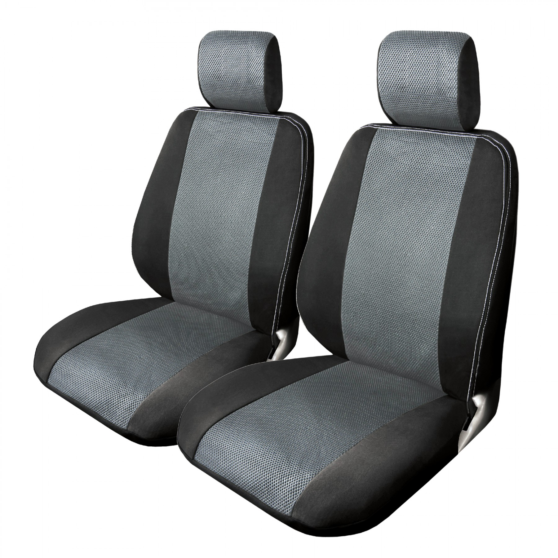 Grey Mesh Truck Seat Covers Front
