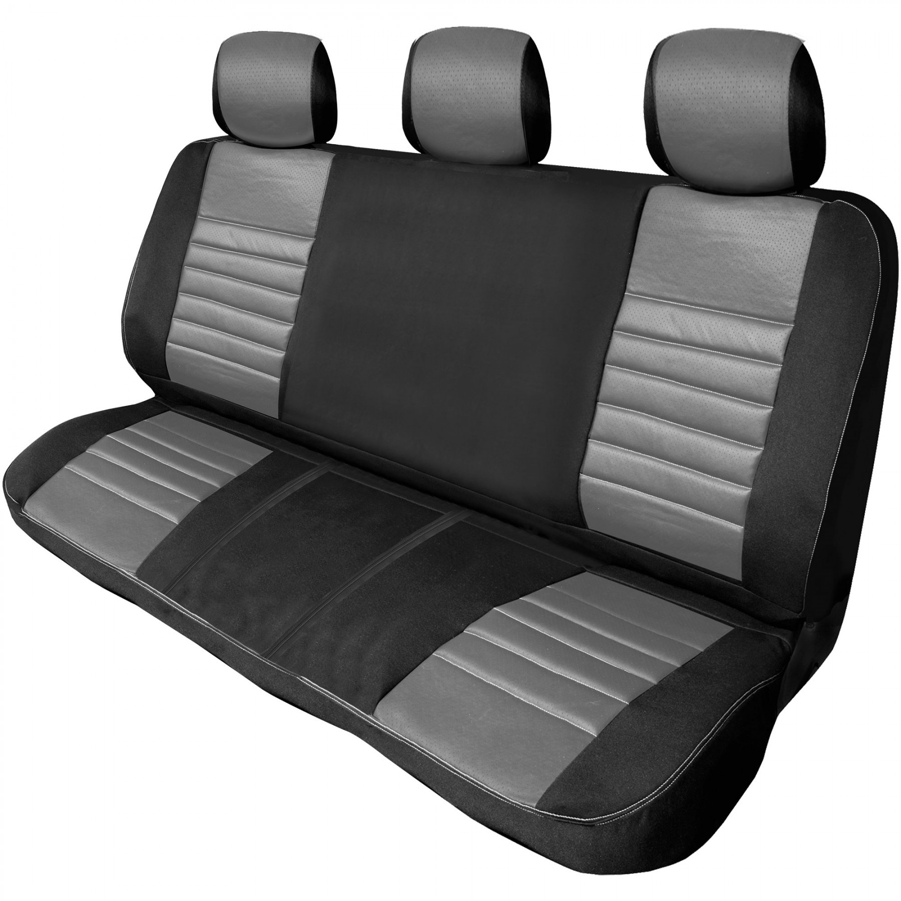 Black Leather Seat Cover Bench Back Truck