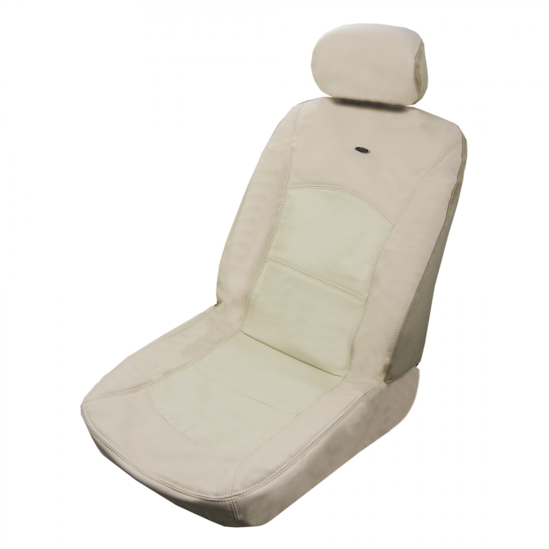 Luxurious Tan Leather Car Front Seat Cover