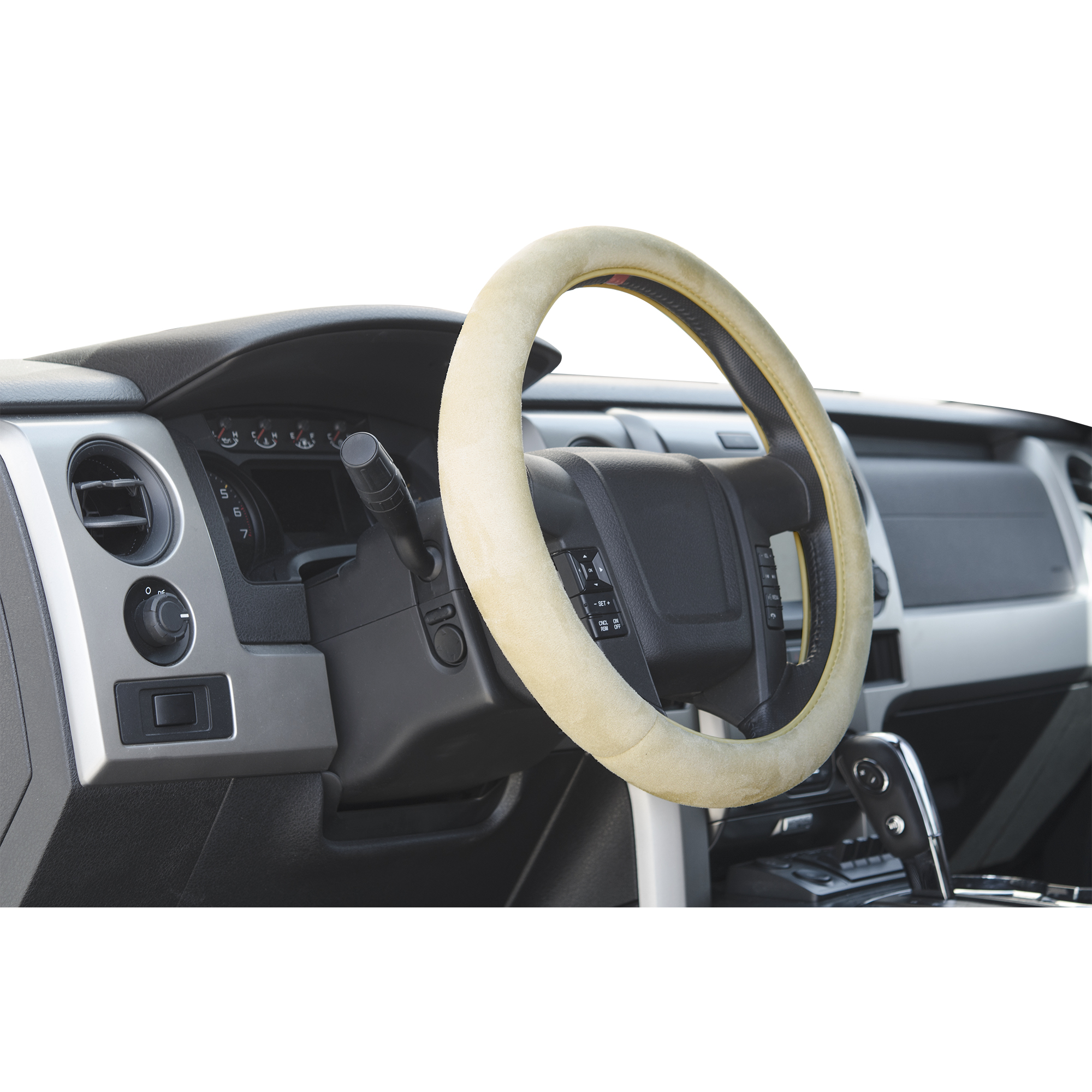 Beige Memory Foam steering wheel cover for trucks