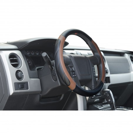 black and brown steering wheel cover for trucks