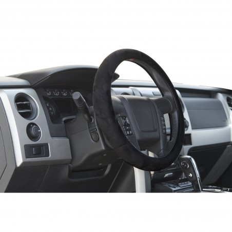 Black Memory Foam truck steering wheel cover