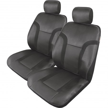black-leather-mesh-raptor-truck-seat-cover