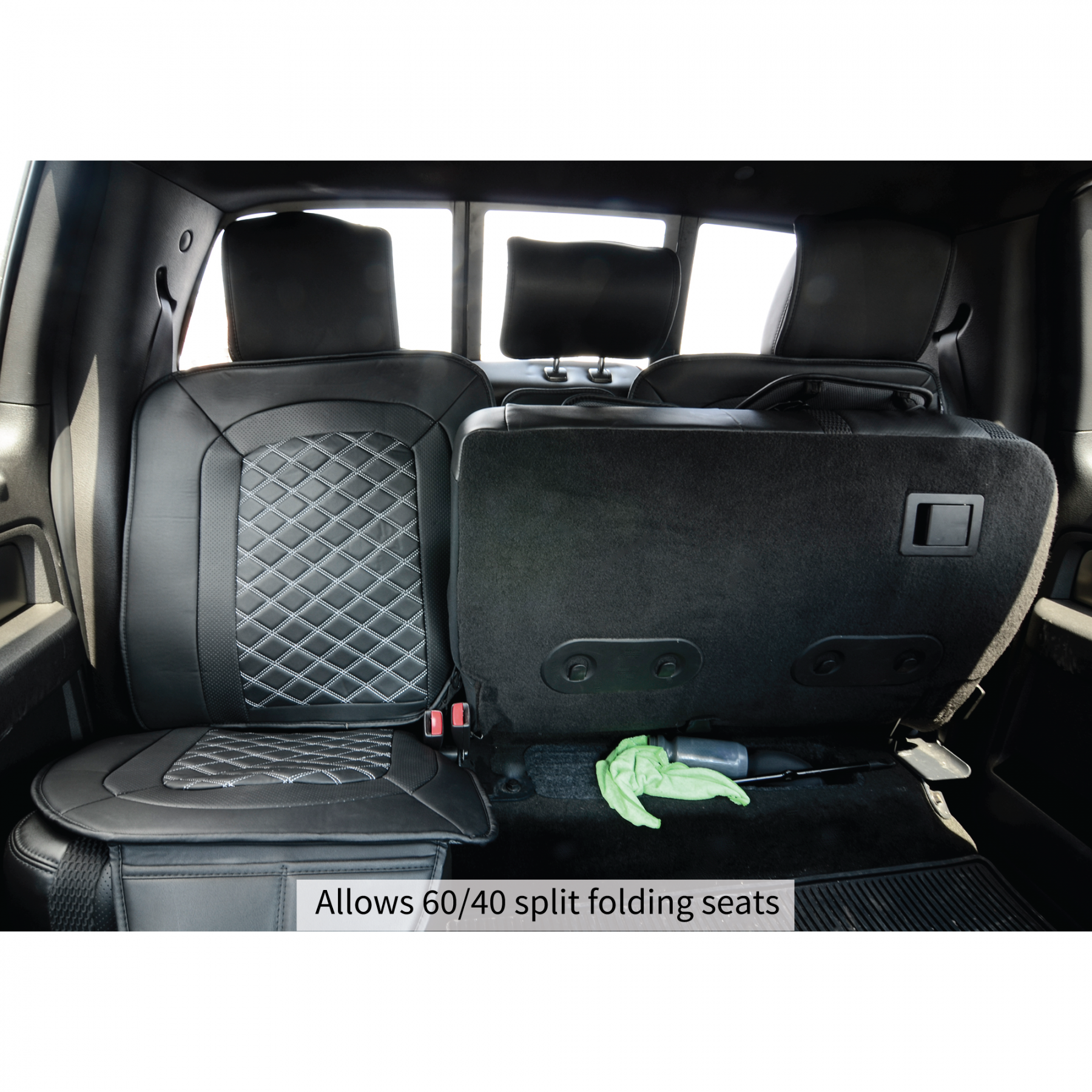 for crew seatsaver gmc split with charcoal seat fold covercraft rear bench covers chevrolet armrest colorado canyon cab p cover down
