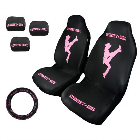 country-girl-black-and pink-seat-cover-kit
