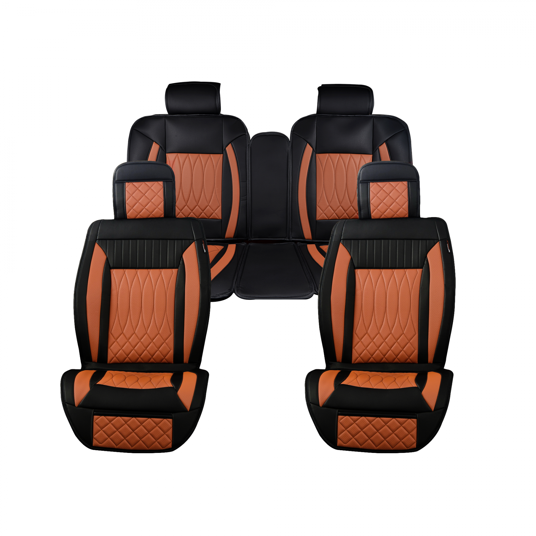 Luxury Series Saddle Brown Full Set Car Seat Cover