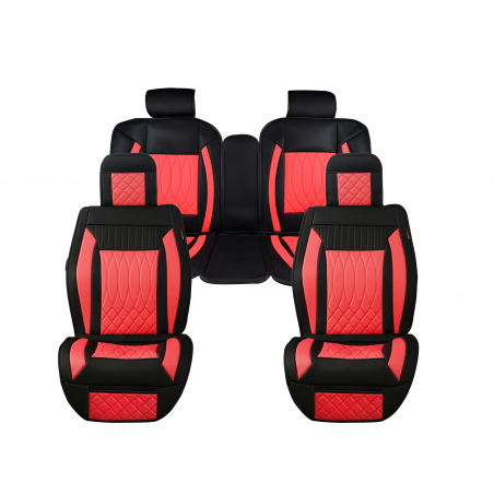 Shop Luxury series Red Full Kit Car Seat Covers