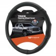 Black-leather-steering-wheel-cover-truck