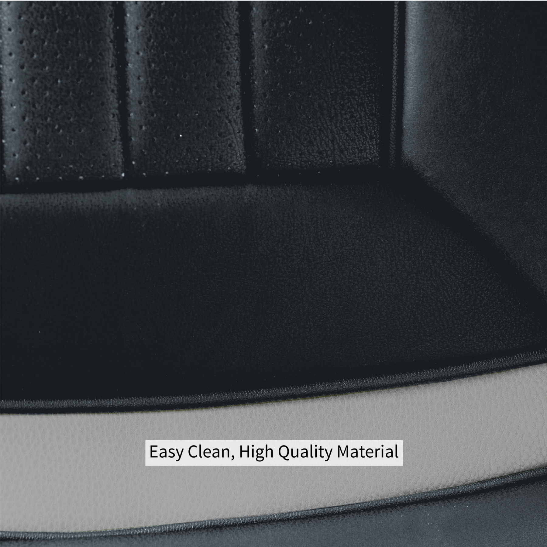 Luxury Series Grey Car Front Seat Cover