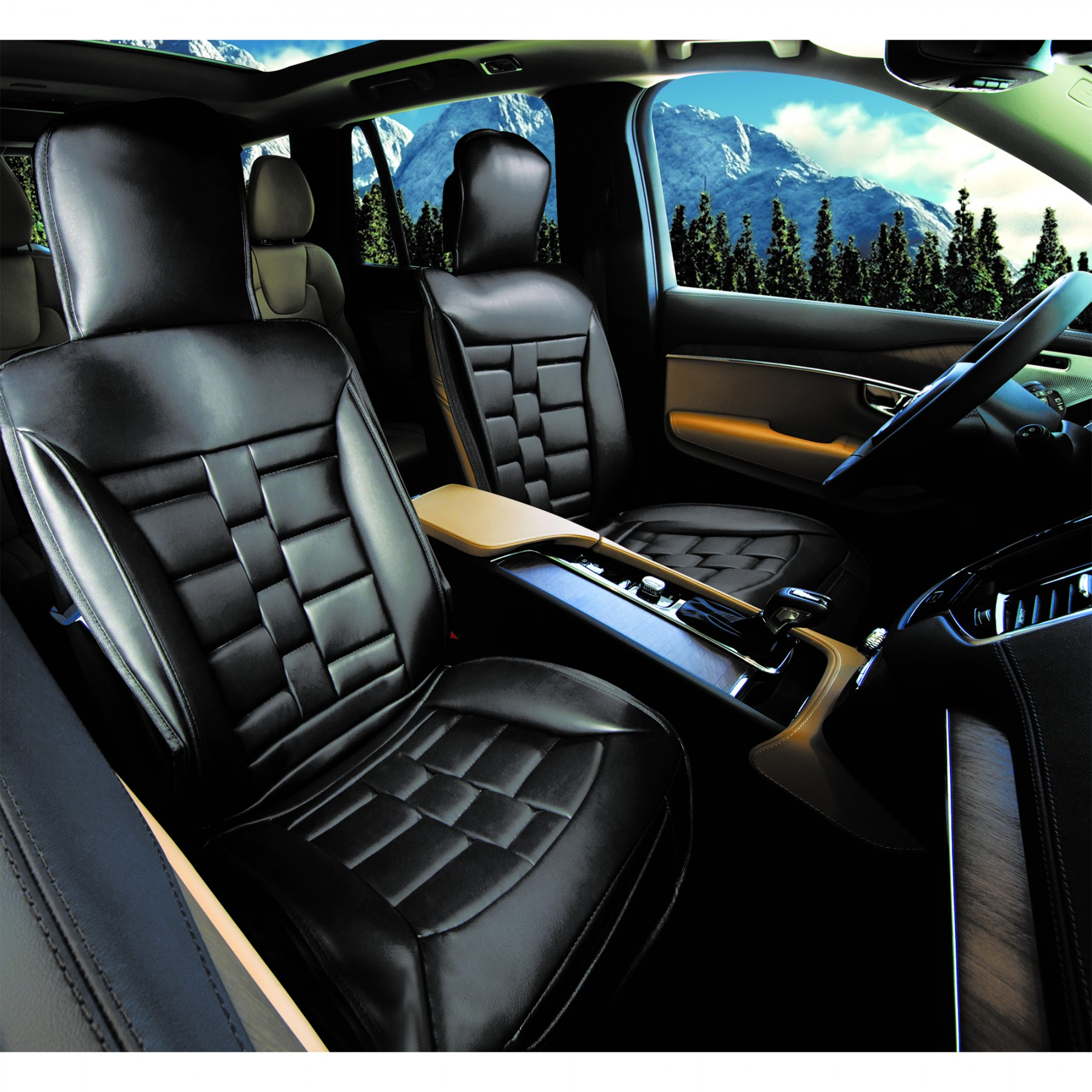 Luxury Series Black Car Front Seat Cover Auto Seat