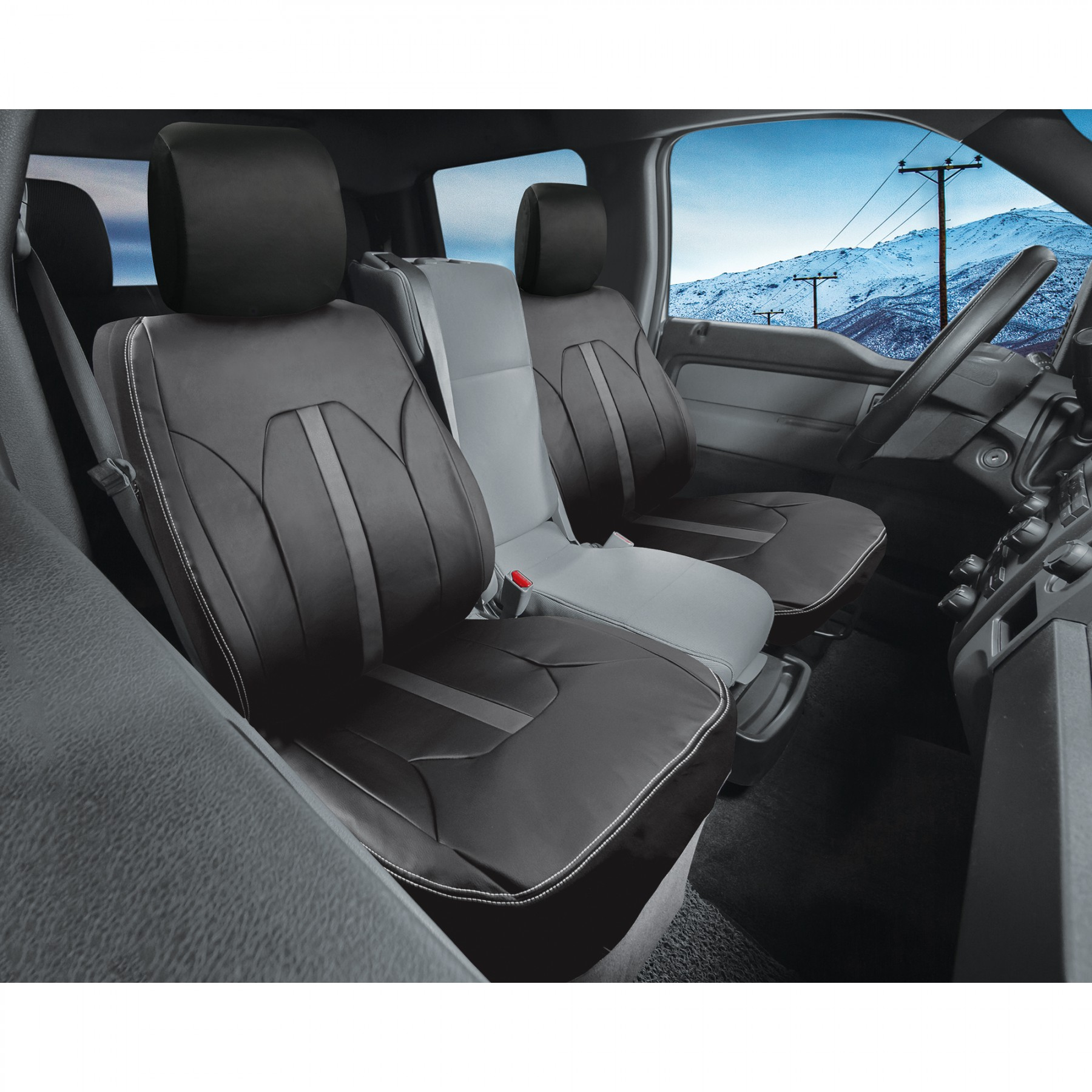 Montana Leather Truck Front Seat Cover Auto Seat Covers